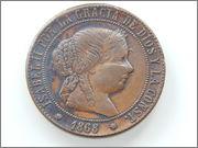 5 céntimos de escudo 1868 DSCN2095