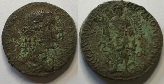 AE24 de Gordiano III - Nicopolis del Istro - Esculapio Image