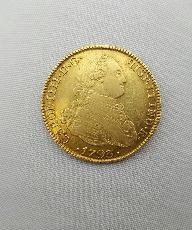 4 escudos 1793. Carlos IV. Potosí 20160627_213810_1