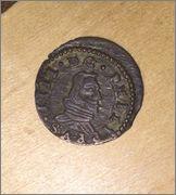 8 maravedís de 1661. Felipe IV ceca Madrid MD Image