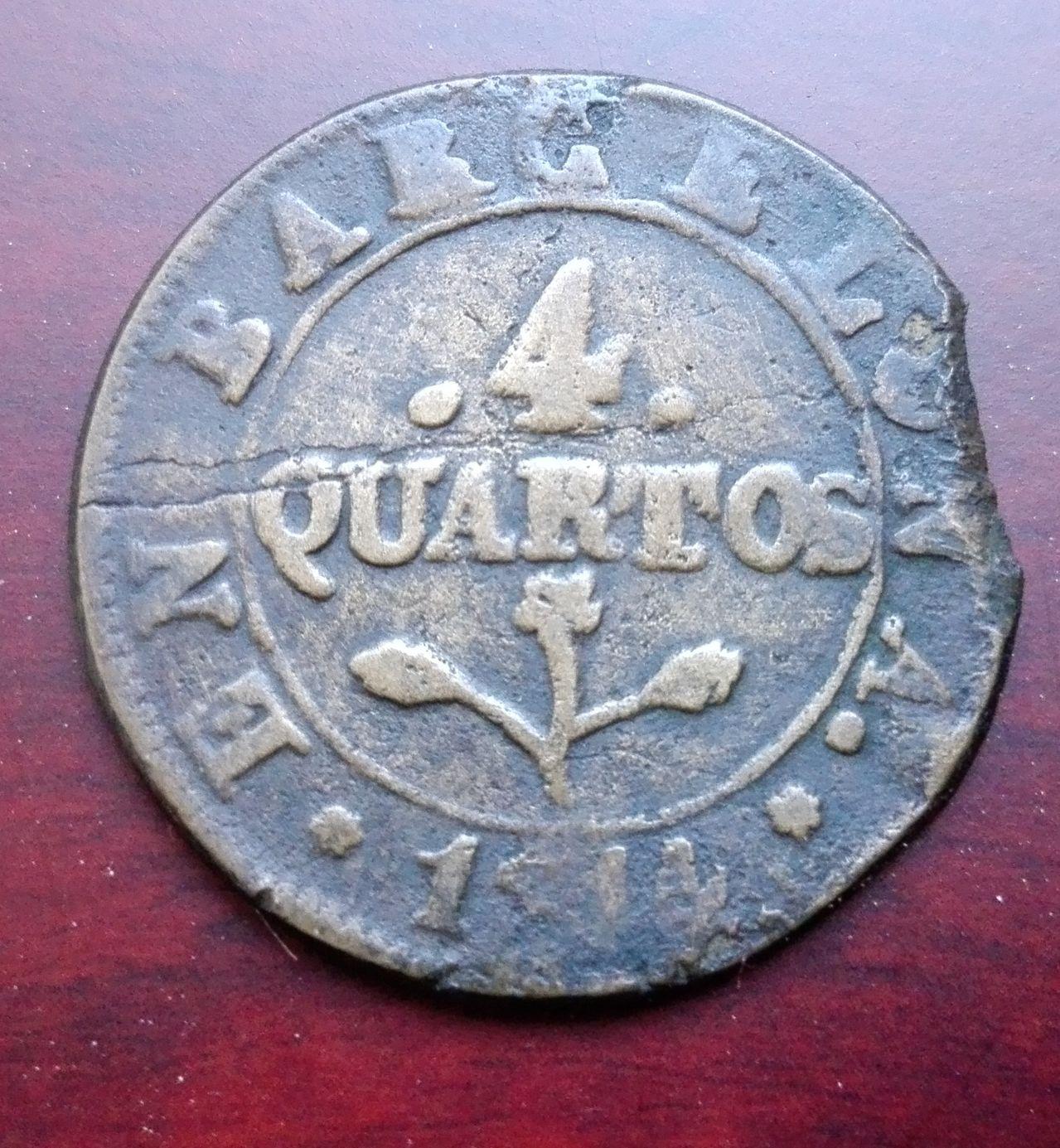 4 cuartos 1814, Barcelona 4_cuatros_1814
