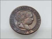5 céntimos de escudo 1868 DSCN2098