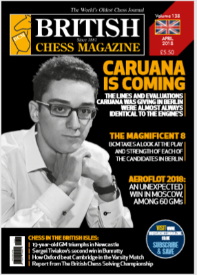 British Chess Magazine  - April 2018 Capture