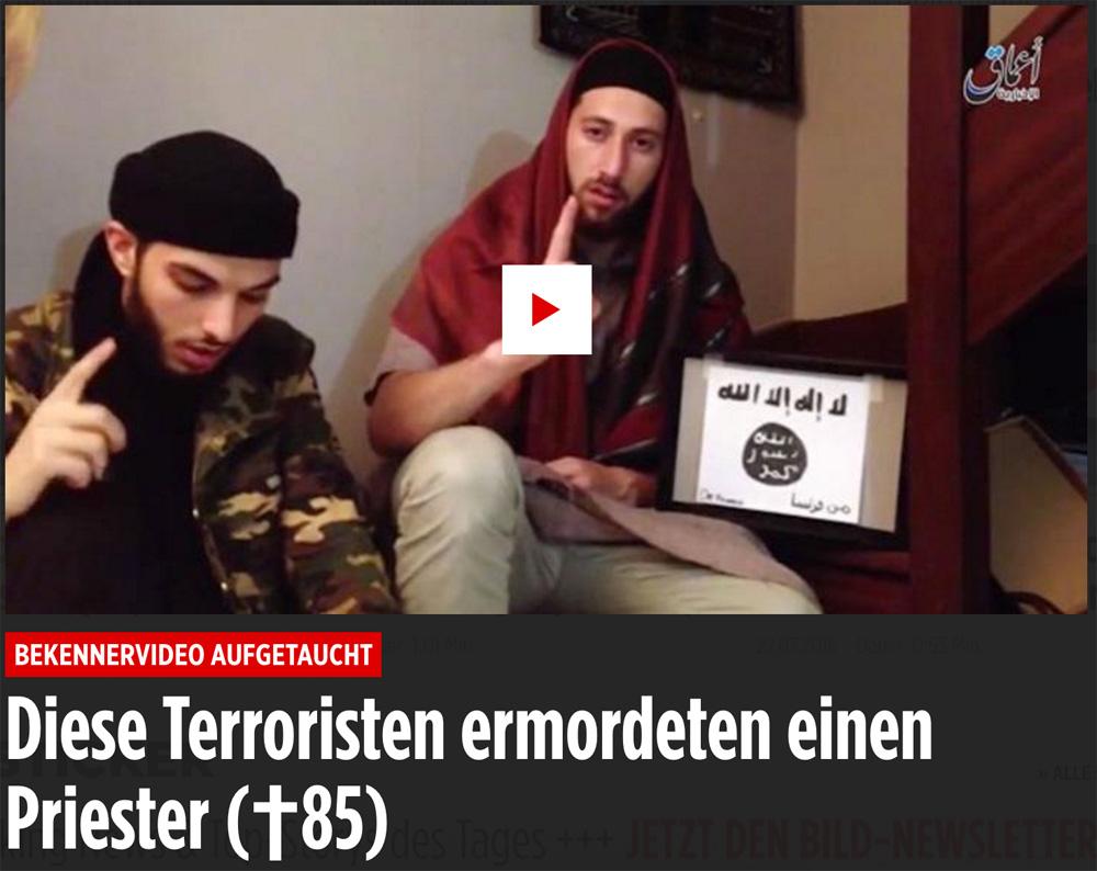 Frankreich - ISIS-Killer köpfen Pfarrer Isisterrorfrance
