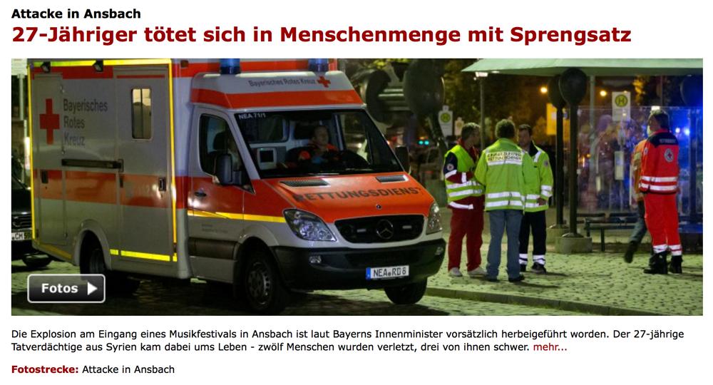 BRD under attack – Terror und Panik: München, Würzburg, Ansbach, Reutlingen - Seite 2 Bayern