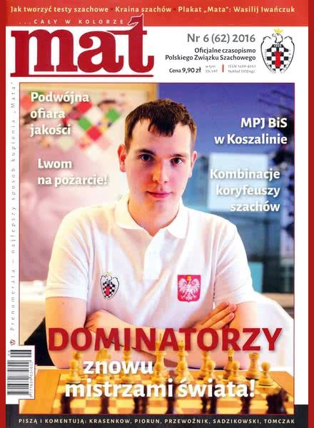 Chess Periodicals :: Czasopismo MAT (Polish Chess Magazine) Mat-62-2016-06