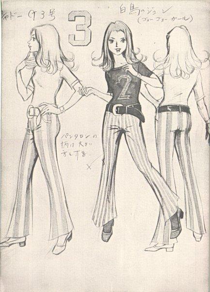 Mitsuki Nakamura Sketches (Gatchaman A.K.A. Battle of the Planets) Jun_model_sheet_A