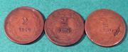 Honduras  2 centavos 1920   ( 3 variantes) 3_CDF529_B-_C427-4_B09-_BB82-20_D528_D37_B31