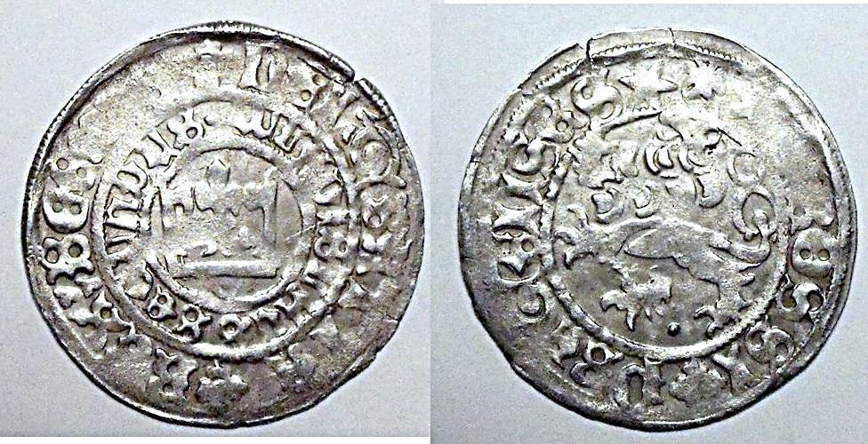 praga - Gros de Praga. Wenceslao II SILVERGROSCHEN