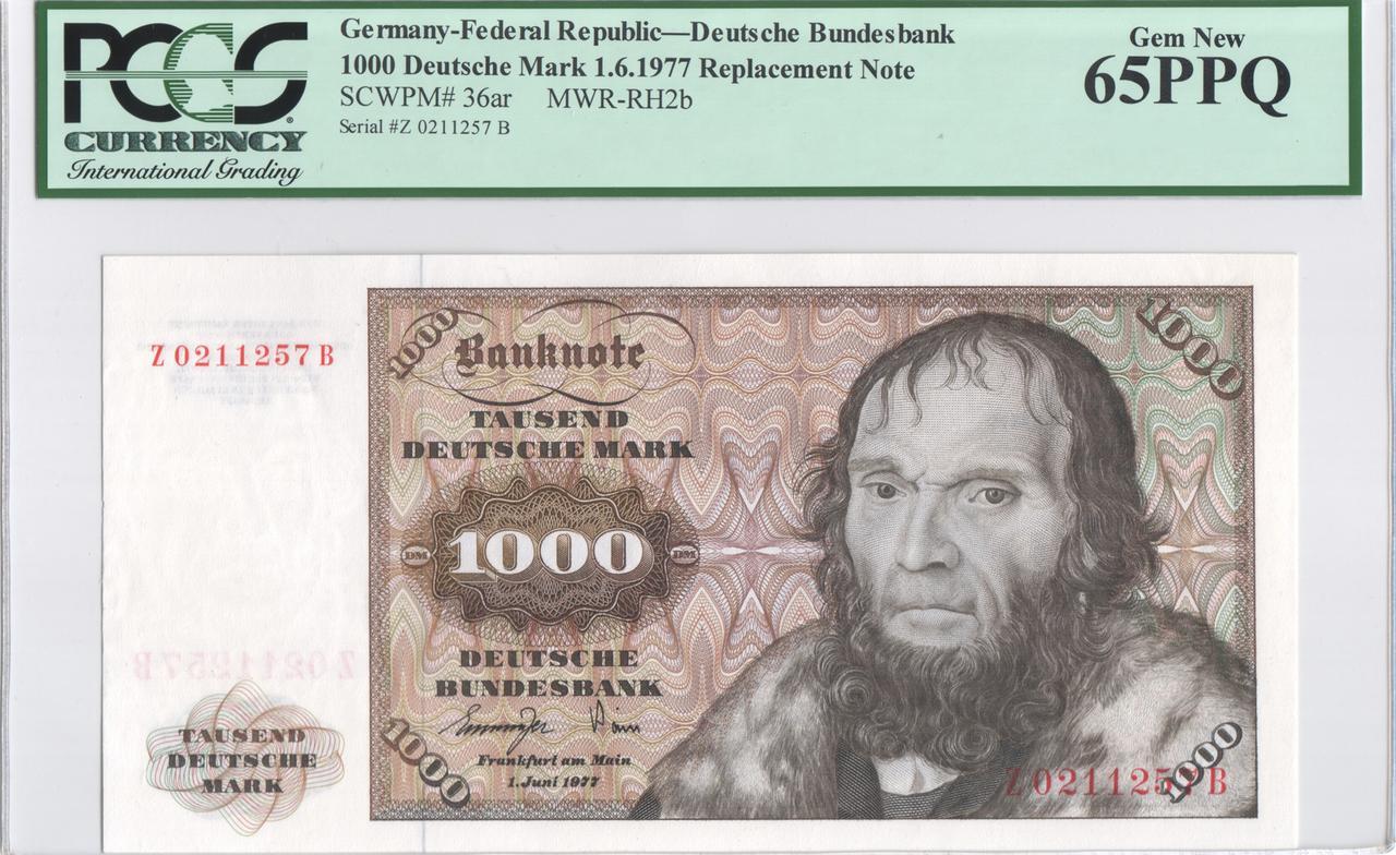 Billetes de reemplazo, no españoles - Página 2 Ger1000