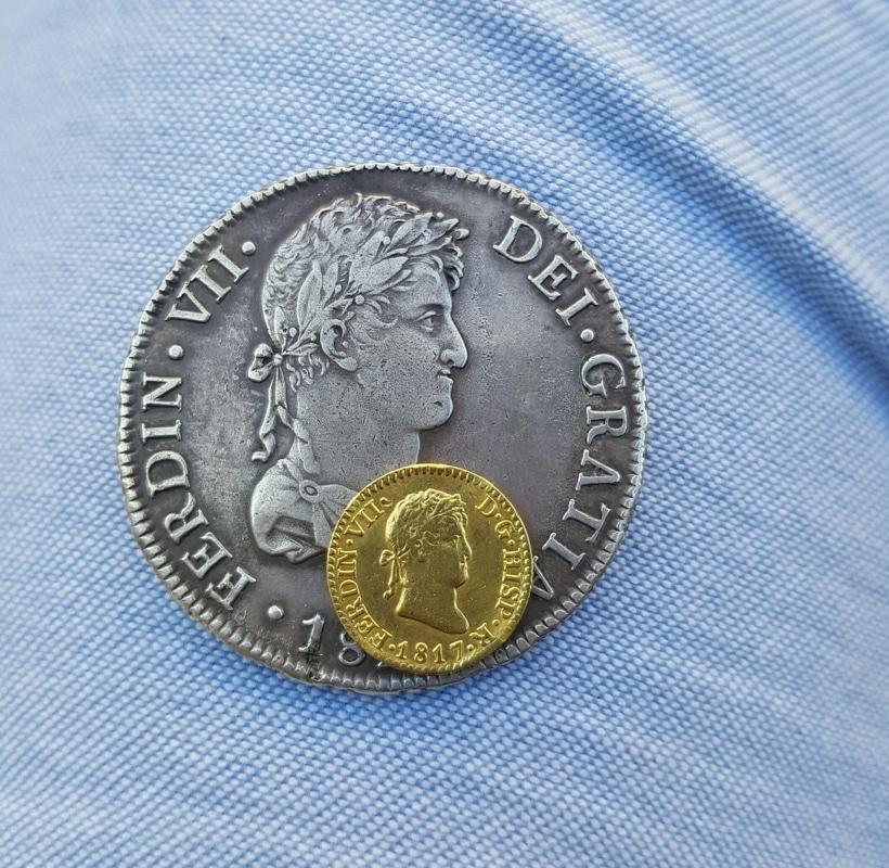 1/2 escudo 1817. Fernando VII. Madrid 20160714_193624_1