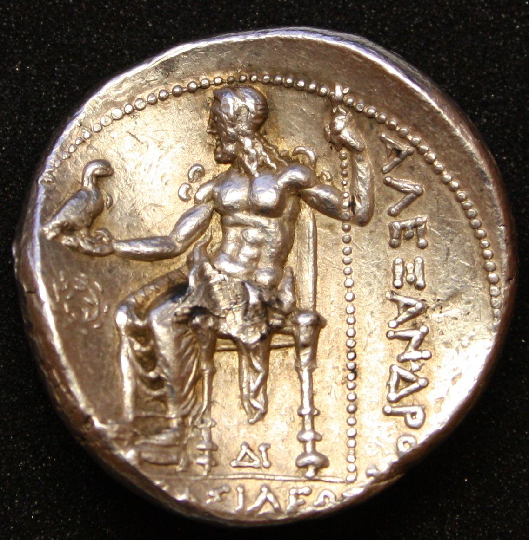 Tetradracma de Alejandro Magno AΛEXANΔPOY / BAΣIΛEΩΣ (Side). - Página 3 Reverso