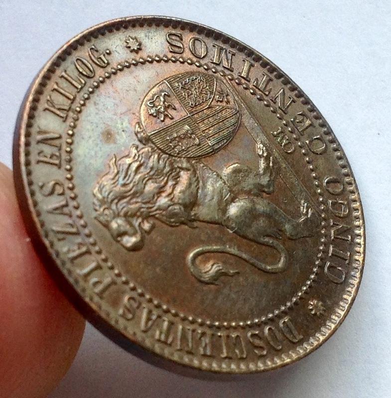 5 céntimos 1870 Gobierno Provisional Image