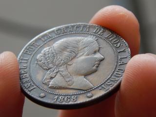 5 céntimos de escudo 1868 DSCN1881
