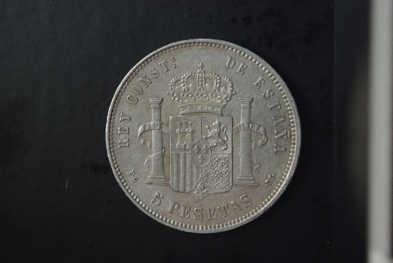 Alfonso XIII 5 Pesetas 1891 (18*91*) PG-M IMGP2752
