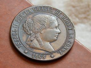 5 céntimos de escudo 1868 DSCN1906