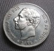 2 pesetas 1884 (*18-84). Alfonso XII 20180504_210153