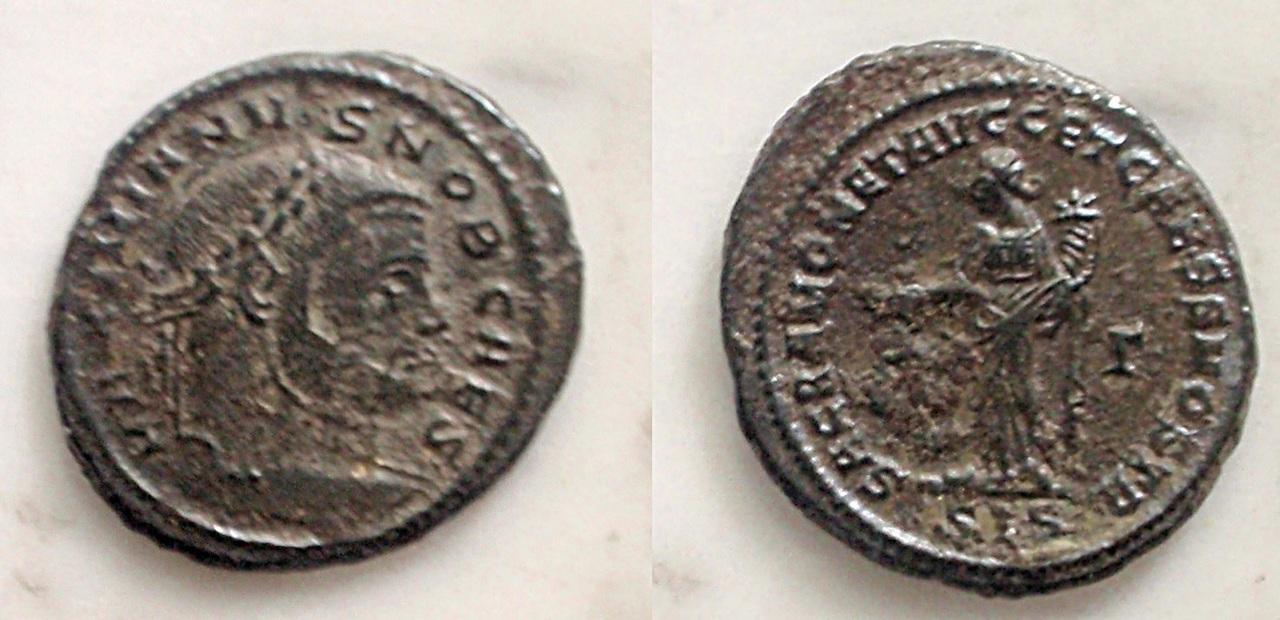 Nummus de Galerio como cesar Nummus