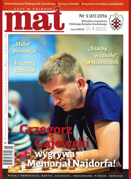 CHESS PERIODICALS :: Czasopismo MAT (Polish Chess Magazine) Mat-61-2016-05