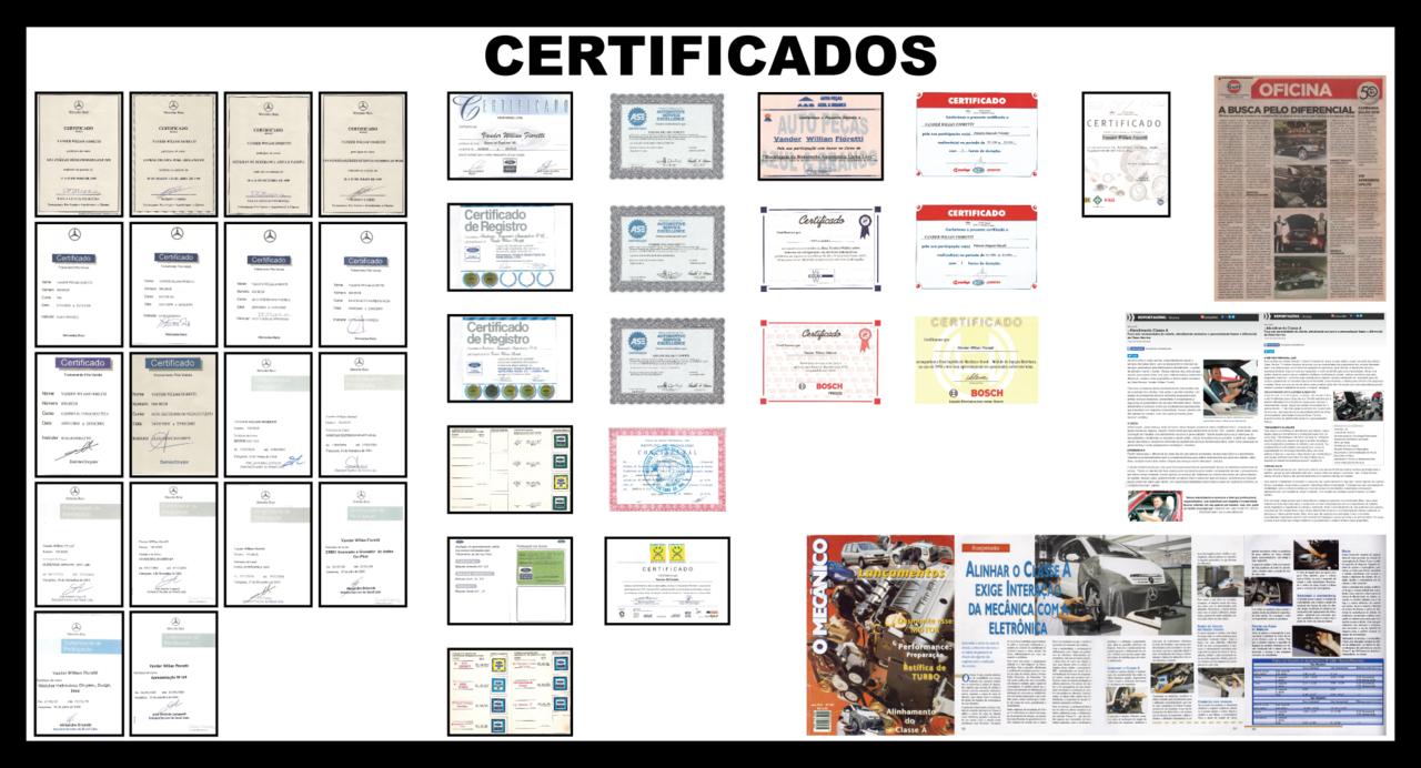 STUTTGART-MOTORS ( Assistência Técnica Especializada / Santo André - ABC - BRASIL ) Certificados