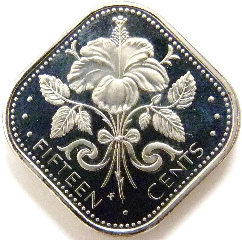 15 Centavos Dólar. Bahamas (1974) BAH_15_Centavos_D_lar_1974_rev