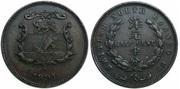 BORNEO NORTE BRITANICO - ½ Cent 1891 Borneo_Norte_Brit_nico_1_Cent_1891