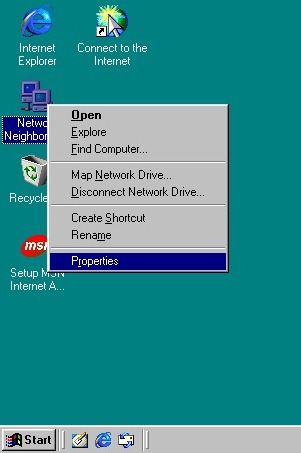 How to Network Windows 7 and Windows 98 WIN98_SS1
