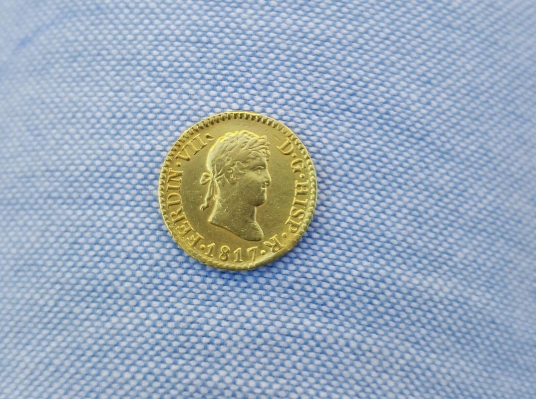 1/2 escudo 1817. Fernando VII. Madrid 20160714_195045_1
