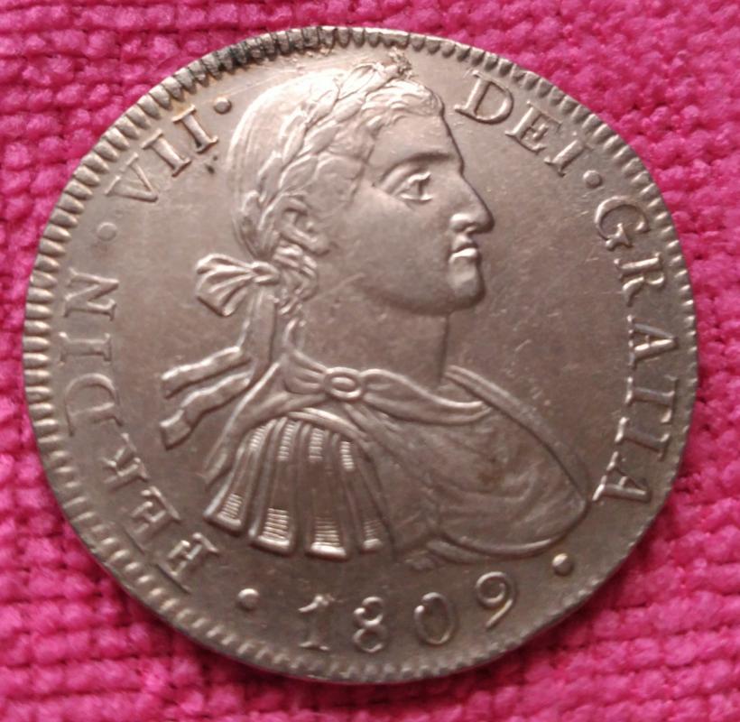 8 Reales 1809. Fernando VII. Méjico T.H. Busto imaginario IMG_20180415_105023