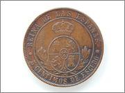 5 céntimos de escudo 1868 DSCN2092