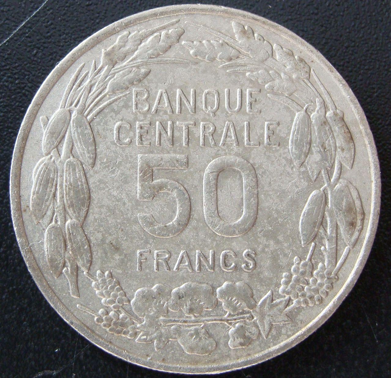 50 Francos. Camerún (1960) CAM_50_Francos_Independencia_rev