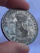 5 pesetas 1885*87 MPM Alfonso XII Image