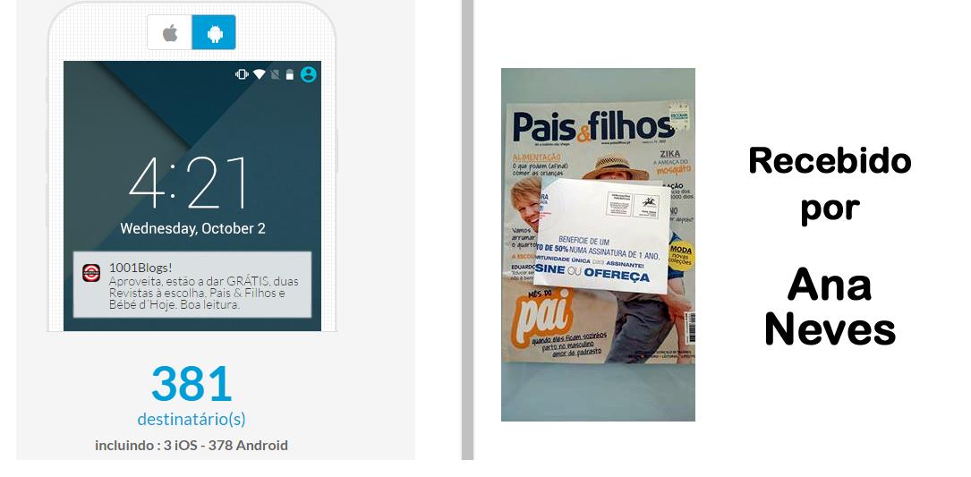 Amostras Clube Zero Dez - Revistas Grátis Pais & Filhos e Bebé d'Hoje [Recebido com Video] App2