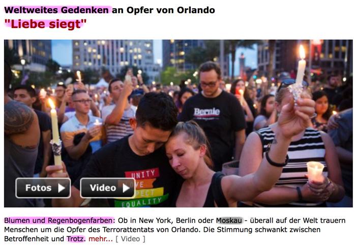 Orlando Psyops False-Flag Hoax Bullshit Ritual Liebe_siegt