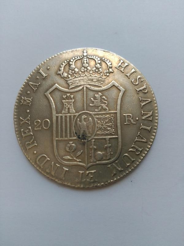 20 reales de Jose Napoleón año 1809 de Madrid  IMG_20160618_135417