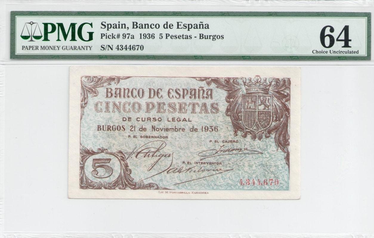 Colección de billetes españoles, sin serie o serie A de Sefcor - Página 4 5_ptas_1936_anverso