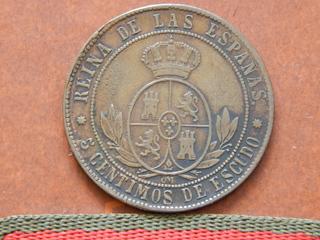 5 céntimos de escudo 1868 DSCN1901