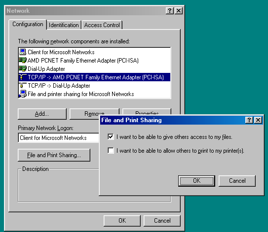 How to Network Windows 7 and Windows 98 Image4