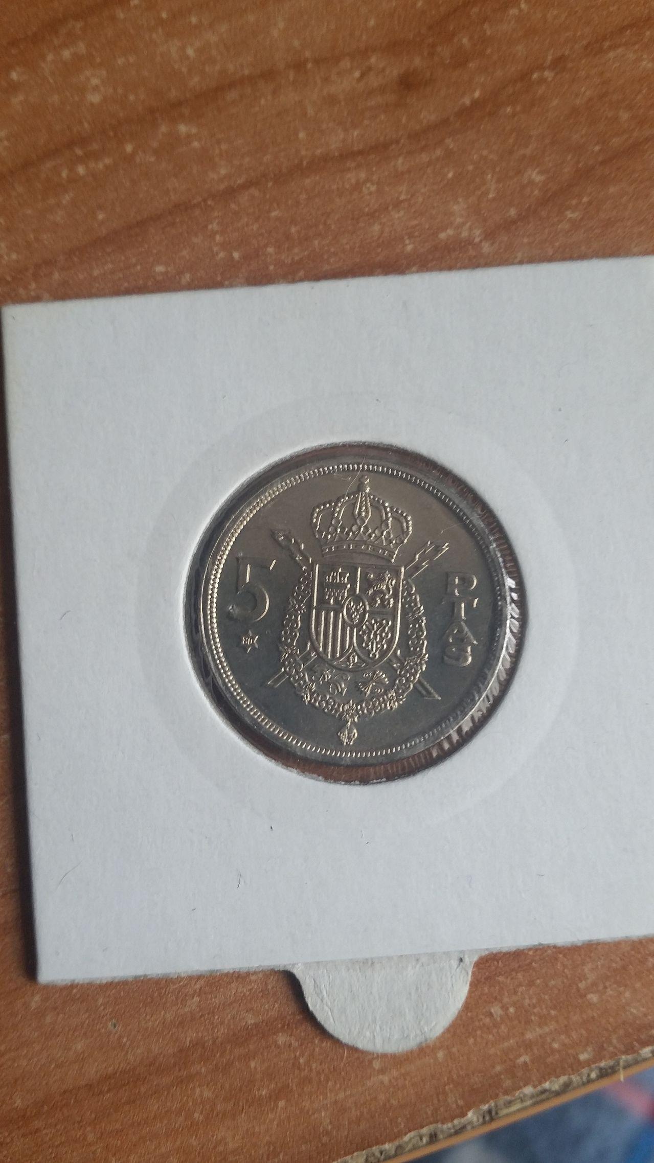 5 pesetas 1975 *80 globo crucífero 20160424_141614