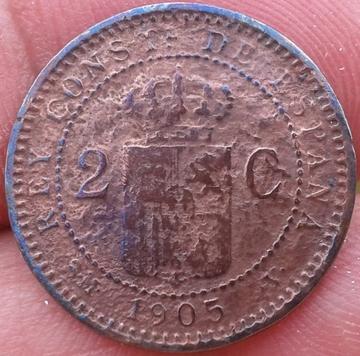 2 céntimos 1905. Alfonso XIII. Corrosión 2_centimos_Alfonso_XIII_1905_2