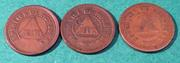 Honduras  2 centavos 1920   ( 3 variantes) 0_D30_D700-2972-4_A98-_B0_F4-44_C80757160_E