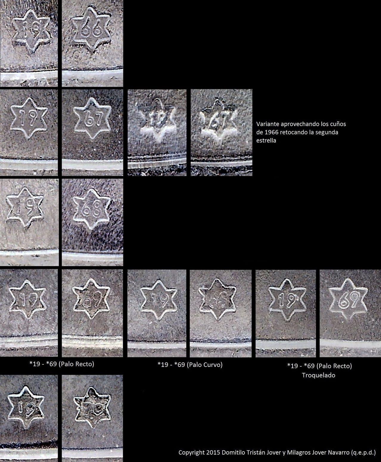 100 pesetas 1969 *1969   palo curvo Estrellas_2