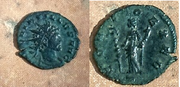Antoniniano de Quintillo. CONCO EXER. Ceca Mediolanum. Quintillo