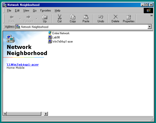 How to Network Windows 7 and Windows 98 Image6