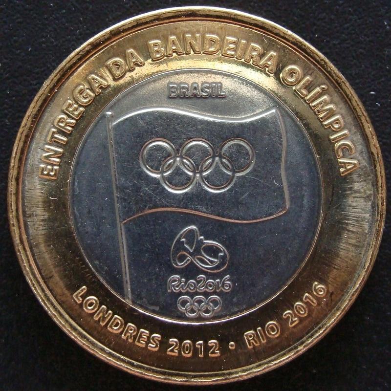 1 Real. Brasil (2012) Entrega bandera olímpica BRA_1_Real_Entrega_bandera_ol_mpica_anv