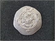 Dracma de Cosroes II, ceca BBA (corte itinerante). 590-628 d.C R205_1
