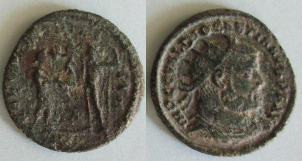 Fracción radiada post-reforma de Diocleciano. CONCORDIA MILI-TVM. Ceca Cyzicus. Hghgh