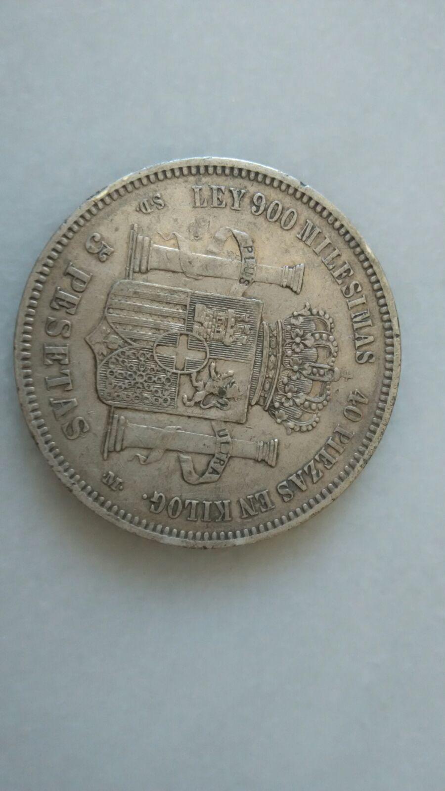 5 pesetas 1871. DEM. Amadeo I IMG_20160502_WA0037