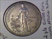 2 pesetas 1937. Consejo Asturias y León. Guerra Civil IMG_1574