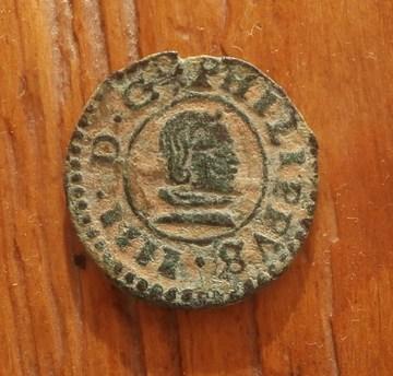 8 maravedis 1661. Felipe IV. Sevilla O_1ag4kq7oemn41k8912hvsai1nstb